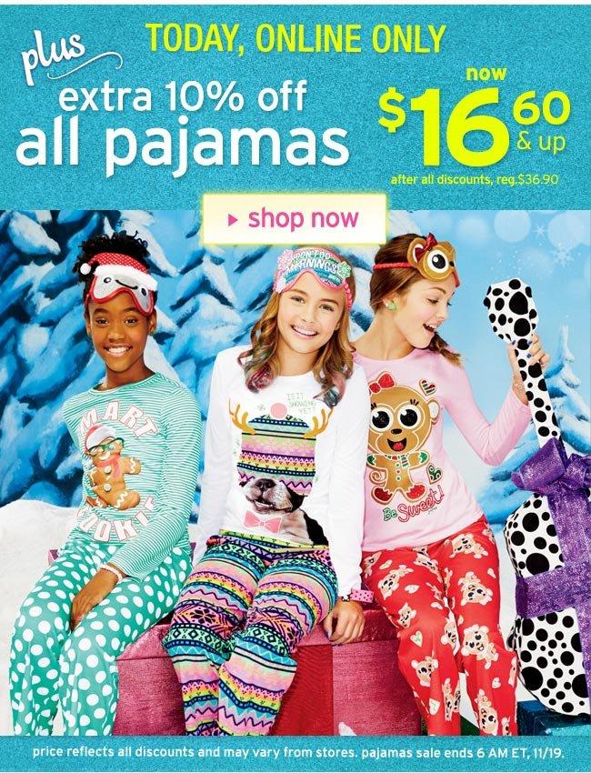 Extra 10% off pajamas