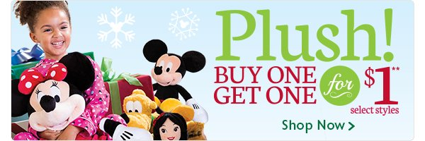 Buy one, Get one for $1 Plush | Shop Now