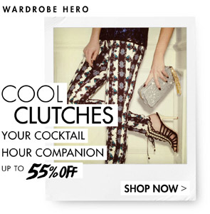 COOL CLUTCHES UP TO 55% OFF