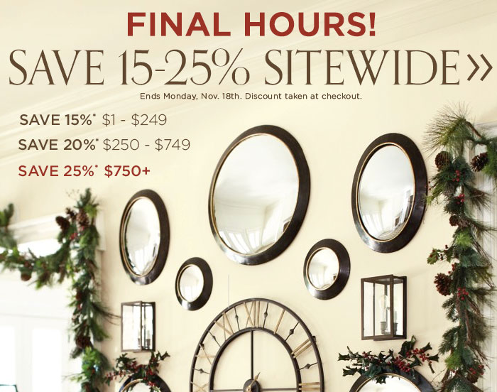 final hours to save up to 25%