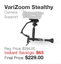 VariZoom Stealthy Camera Support