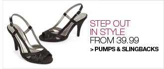 Shop Pumps and Slingbacks from 39.99