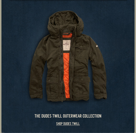 THE DUDES TWILL OUTERWEAR  COLLECTION SHOP DUDES TWILL