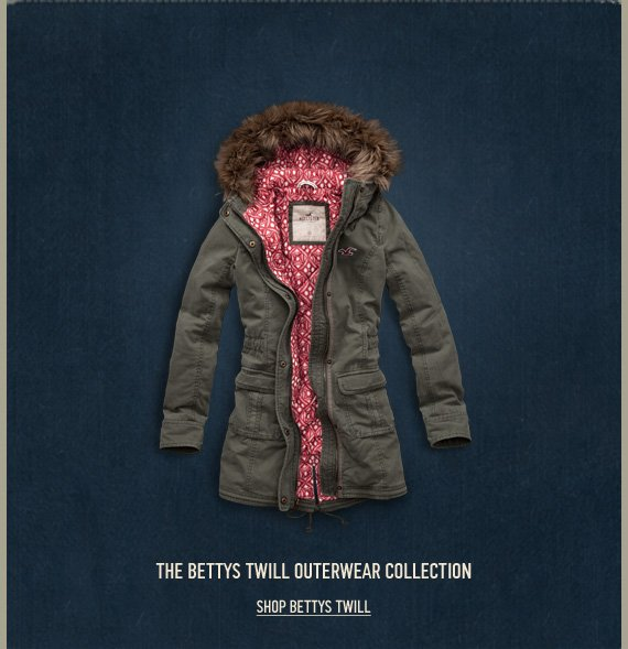 THE BETTYS TWILL OUTERWEAR  COLLECTION SHOP BETTYS TWILL