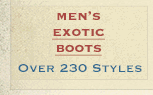 Mens Exotic Boots on Sale