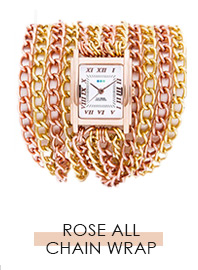 Rose Gold-All Chains Wrap Watch