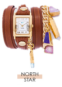 North Star Crystal Wrap Watch