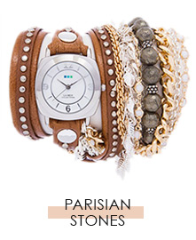 Parisian Stones Wrap Watch