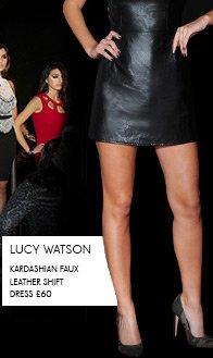 Kardashian Faux Leather Shift Dress