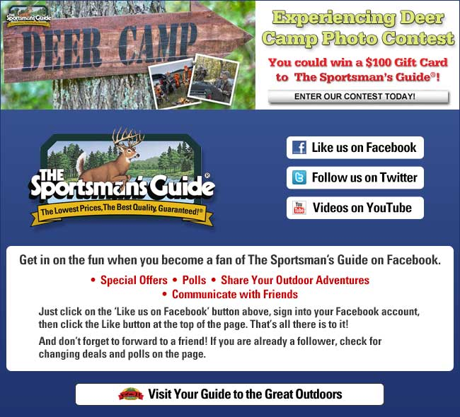 Enter The Guide's Contest: Deer Camp - win a $100 Gift Card!