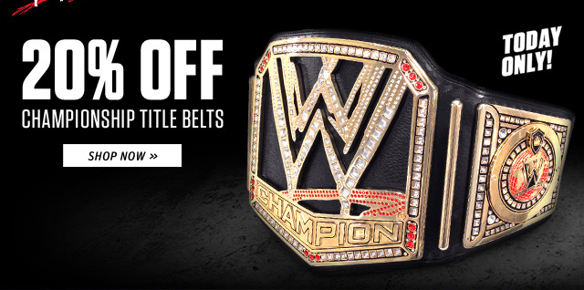 Today Only - 20% off Championship Title Belts