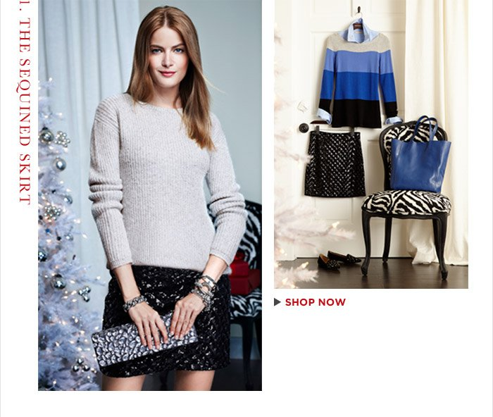 1. THE SEQUINED SKIRT | SHOP NOW