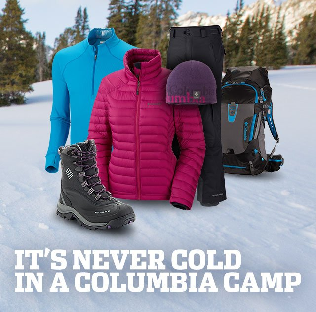 IT'S NEVER COLD IN A COLUMBIA CAMP