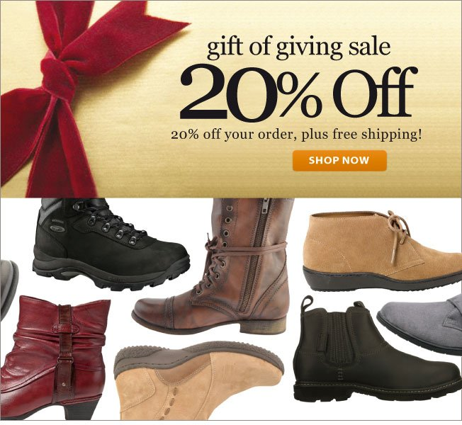 20% off! The Gift of Giving Sale!
