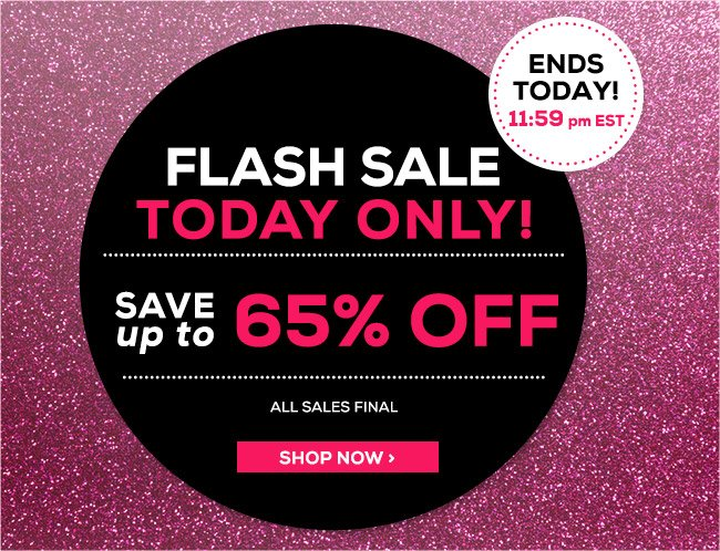 Flash Sale Up To 65% Off