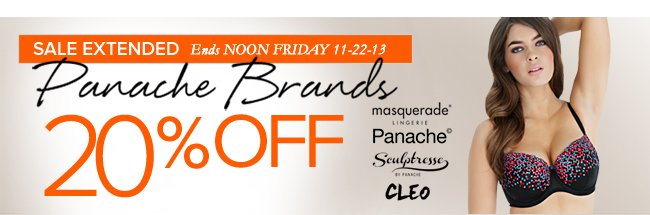 Panache Brands 20% Off Now at HerRoom