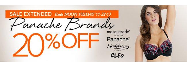 Panache Brands 20% Off Now at HerRoom