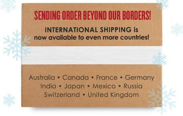 Sending  Order Beyond Our Borders! »