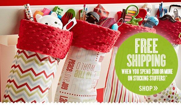 FREE  SHIPPING* on Stocking Stuffers »