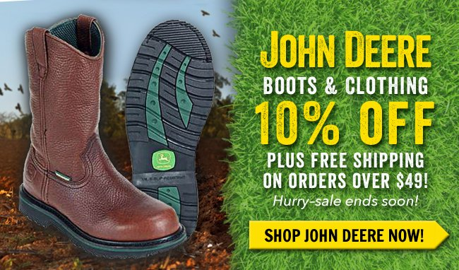 Save 10% On All John Deere Footwear