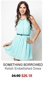 SOMETHING BORROWED Relish Embellished Dress