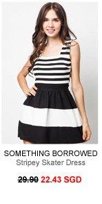 SOMETHING BORROWED Stripey Skater Dress