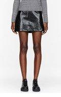 CHLOE SEVIGNY FOR O.C. Black Coated Tweed Mini Skirt for women