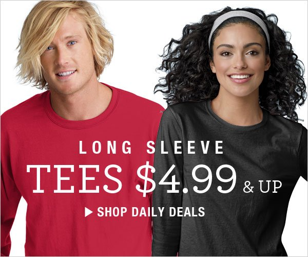 Long Sleeve Tees $4.99 & up