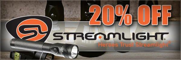 20 percent off Streamlight