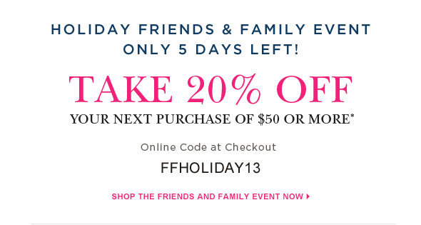 Holiday friends & family event.