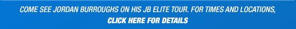 Jordan Burroughs Schedule for his JB Elite Tour - Promo Banner