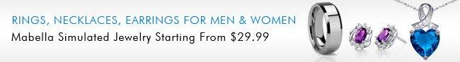 Rings, Necklaces, Earrings For Men & Women.
