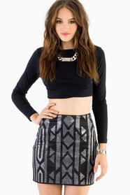 Bianca Beaded Mini Skirt 30