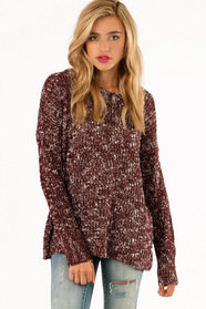 V Neck Marled Sweater 43