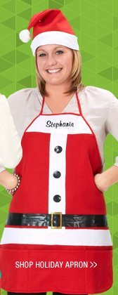 Shop Embroidered Holiday Apron and Hat