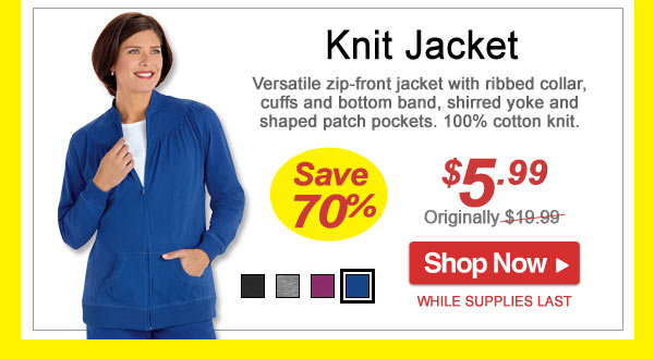 Save 70% - Knit Jacket - Now Only $5.99 - Limited Time Offer - Shop Now >>