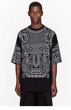 KTZ Black & Grey Reflective Tattoo print shirt for men