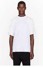 KTZ White Fringed t-shirt for men