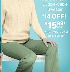Cable Sweater $15.99 each when you buy 2