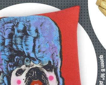 queen B 16in pillow 39.95