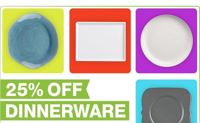 25% off dinnerware