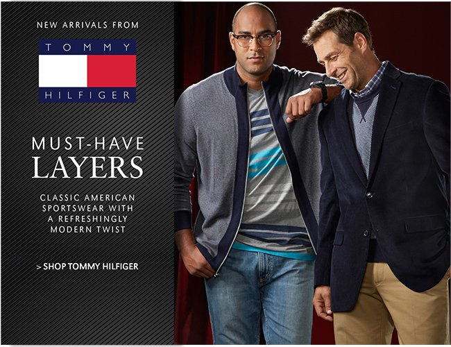 NEW ARRIVALS FROM TOMMY HILFIGER | CLASSIC AMERICAN SPORTSWEAR WITH A REFRESHINGLY MODERN TWIST | SHOP TOMMY HILFIGER