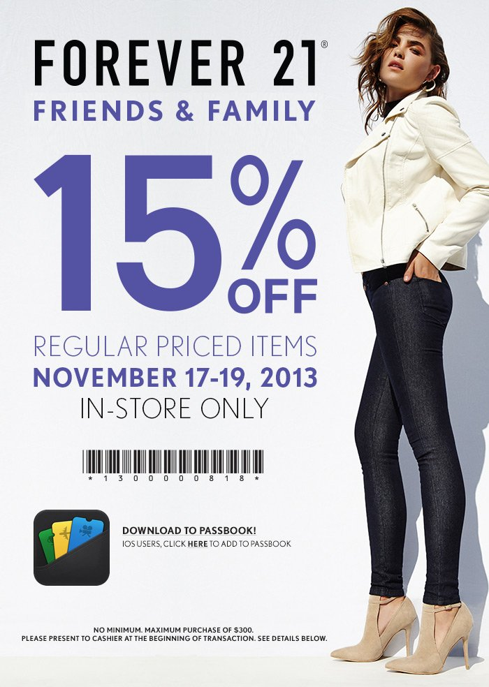 Friends and Family - 15% Off!