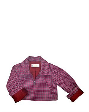 Right Bank Babies Checkered Girl's Jacket