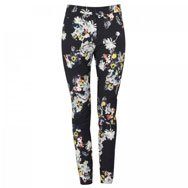 ERDEM - Sidney floral print stretch cotton blend trousers