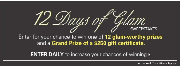 12 Days of Glam Sweepstakes