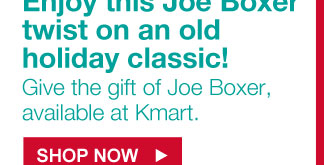 Enjoy this Joe Boxer twist on an old holiday classic! | Give the gift of Joe Boxer, available at Kmart. | SHOP NOW