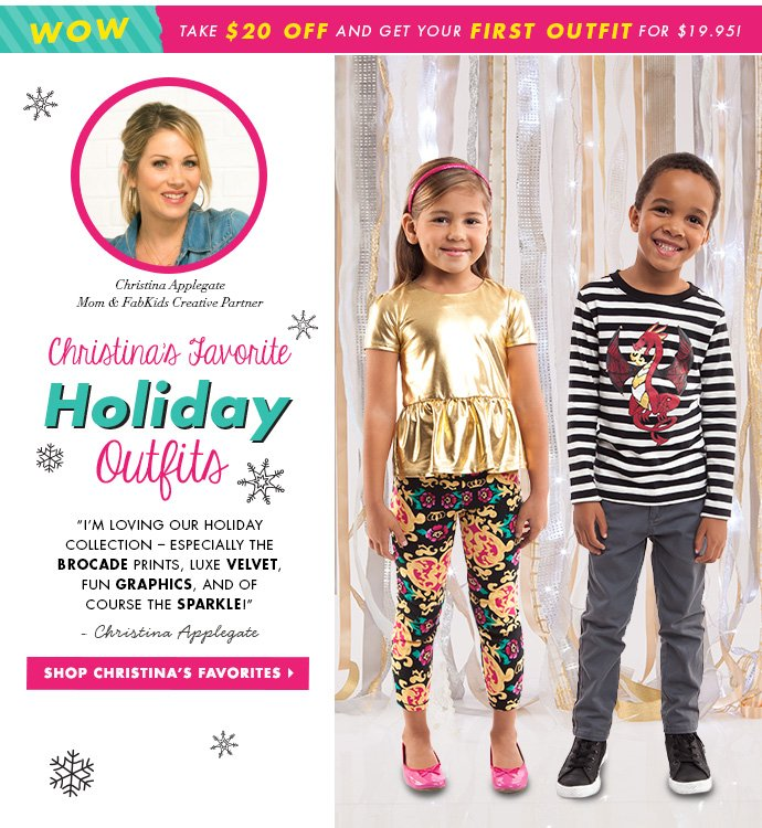 Christina Applegate's Favorite Holiday Outfits.