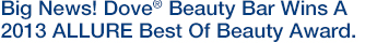 Big News! Dove® Beauty Bar Wins A 2013 ALLURE Best Of Beauty Award.