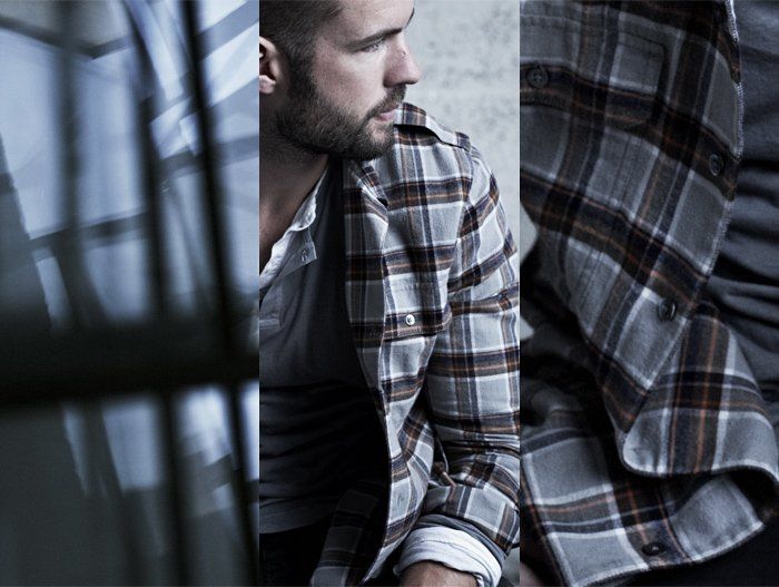 JAMES PERSE LOS ANGELES - THE FLANNEL UTILITY SHIRT